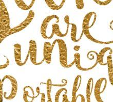 Books Are A Uniquely Portable Magic Gold Foil Sticker
