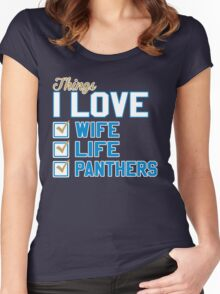 Things I Love Wife Life Panthers Women's Fitted Scoop T-Shirt