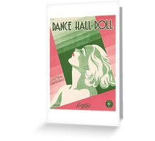 DANCE HALL DOLL (vintage illustration) Greeting Card