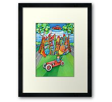 children's  car Framed Print