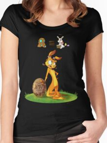 Precursors are Bunnies Women's Fitted Scoop T-Shirt