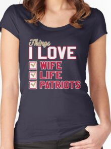 Things I Love Wife Life Patriots Women's Fitted Scoop T-Shirt