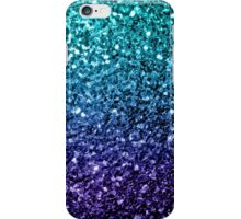 Beautiful Aqua blue Ombre glitter sparkles  iPhone Case/Skin