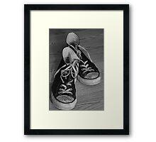 Black and White Kicks Framed Print