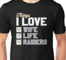 Things I Love Wife Life Raiders Unisex T-Shirt