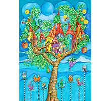 Tree House - Fantasy Word Photographic Print