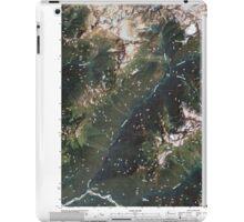 USGS Topo Map Washington State WA Downey Mountain 20110510 TM iPad Case/Skin