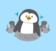 Penguin on a banner by jazzydevil