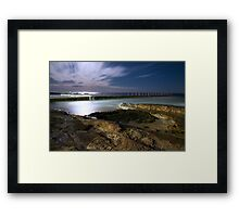 Liquid SIlver Beach Framed Print