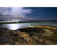 Liquid SIlver Beach Photographic Print