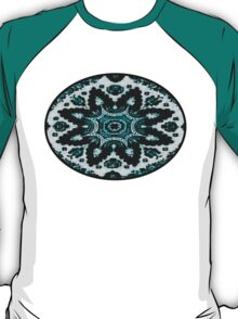 Black and Teal Blue.   T-Shirt