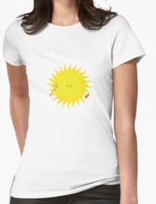 Sun grilling sausage Womens Fitted T-Shirt