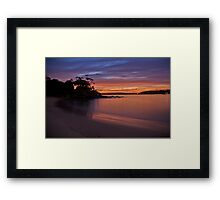 Balmoral Dawn , Balmoral, Sydney NSW Australia - The HDR Experience Framed Print