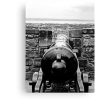 Looking down the barrel Canvas Print