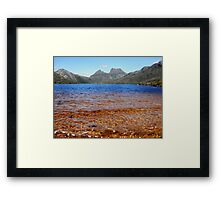 Blue and Gold, Dove Lake, Cradle Mountain,Tasmania, Australia. Framed Print
