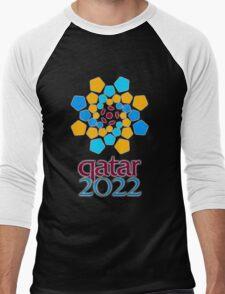 Qatar 2022, Fifa World Cup logo Men's Baseball ¾ T-Shirt