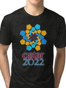 Qatar 2022, Fifa World Cup logo Tri-blend T-Shirt