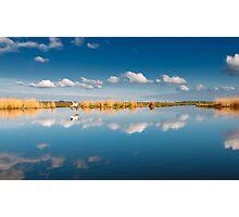 Blue sky white cloud Photographic Print