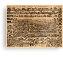 Panoramic Maps Truro Nova Scotia 1889 Canvas Print