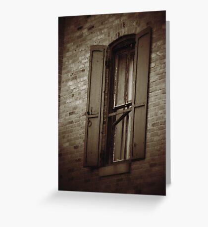 Historic Building Window Greeting Card