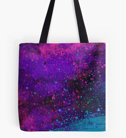 Pink, Purple and Blue Paint Splatters Tote Bag