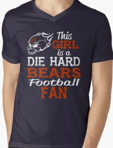 This Girl Is A Die Hard Bears Football Fan Mens V-Neck T-Shirt