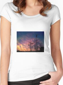 Northern Ireland Sunset Women's Fitted Scoop T-Shirt