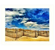 beach, dune and sky Art Print