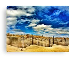 beach, dune and sky Canvas Print