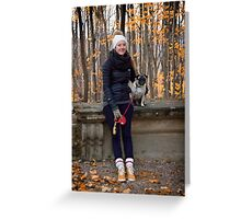 Promenade in the Park - Autumn Greeting Card