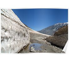Snow Bank Lahaul Valley Poster