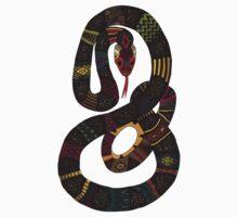 geo snakes lead Kids Tee