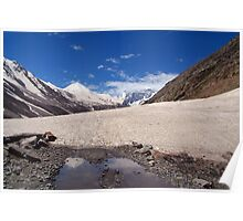 Snow in the Lahaul Valley Poster