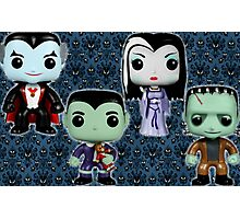 Bobble headed Munsters Photographic Print