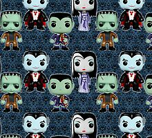 Bobble headed Munsters by BURPdesigns