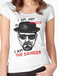 Heisenberg I am the danger Women's Fitted Scoop T-Shirt