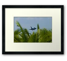 FM AF 86 0307 F-16C Fighting Falcon In the Palms Framed Print