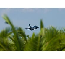 FM AF 86 0307 F-16C Fighting Falcon In the Palms Photographic Print