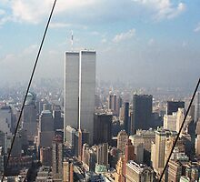 Twin Towers From Blimp by Bdonahy