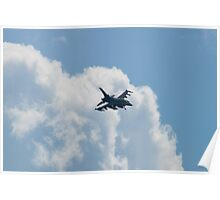 FM AF 88 0402 F-16C Fighting Falcon Dropping Out of Clouds Poster