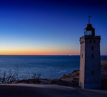 Blue Hour Lighthouse by Ulla Jensen