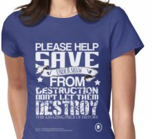 Save Undershaw Now Three Womens Fitted T-Shirt