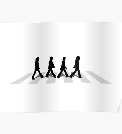 abbey road white Poster