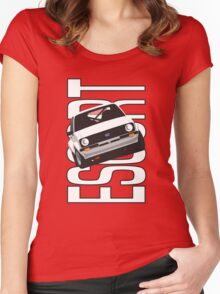 Ford Escort Mk2 Women's Fitted Scoop T-Shirt