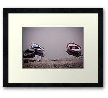 Ganges Boats Framed Print