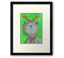 Christmas Cat :-) Framed Print