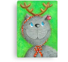 Christmas Cat :-) Canvas Print