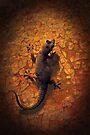 Little Lizard on a Wall by Emma  Gilette