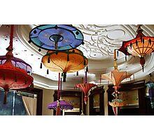 Parasol chandeliers in Las Vegas Photographic Print