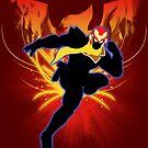 Super Smash Bros. Captain Falcon Silhouette by jewlecho